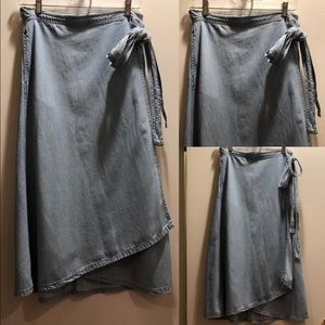 GAP Blue Jean Wrap Skirt